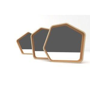 Miroir SIX en chêne recyclé // SIX mirror on recycled oak // #miroir #éco-responsable // #eco friendly