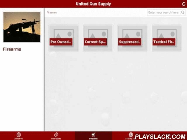 United Gun Supply  Android App - playslack.com , Stay in touch with the United Gun Supply family by downloading the official United Gun Supply application. Get notifications for Promos, sales, events and join our application based customer rewards program.  Features: - Get a quote on any firearm you may be interested in- Check out our complete stock of used firearms- Get special coupons and loyalty card promos, which are exclusive to United Gun Supply app users- View a wide variety of images…