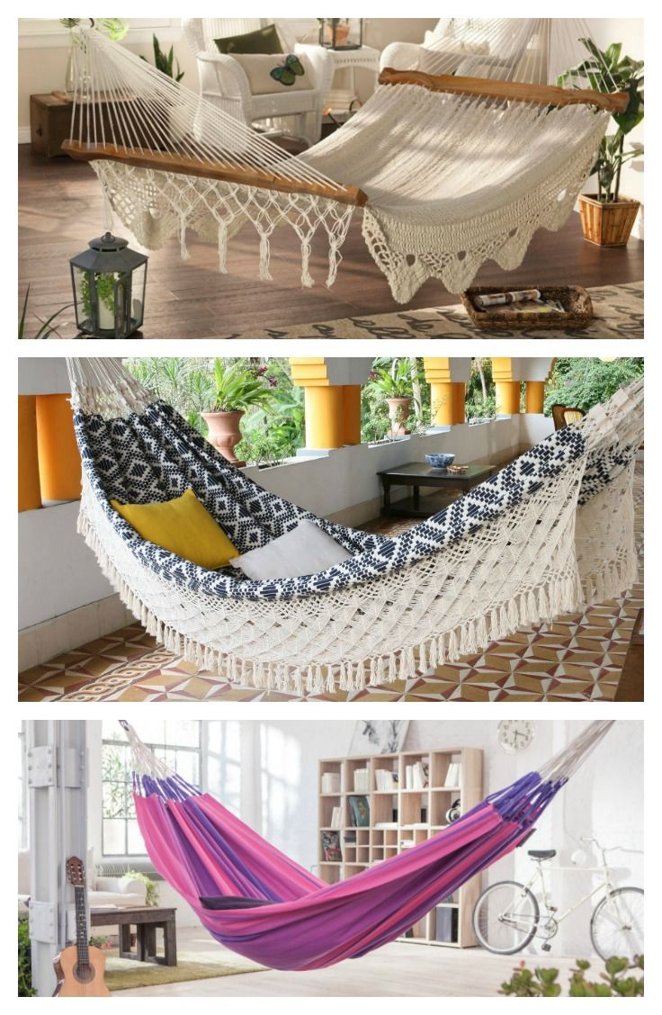 Hammocks swings a collection of ideas to try about home for Living room hammock