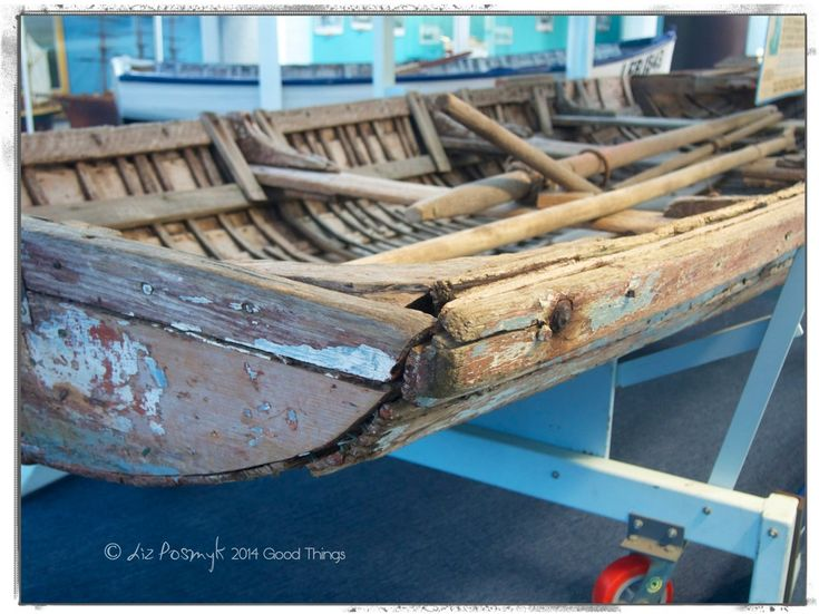Old wooden boat at the Killer Whale Museum in Eden NSW