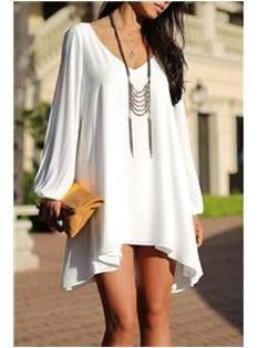 White Summer / Beach Dress - Code Women