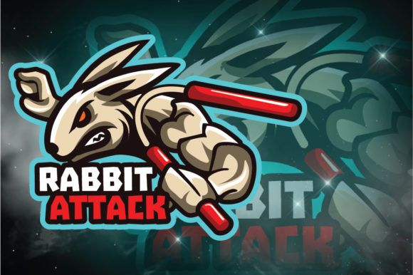 Download Rabbit E Sport Logo Graphic By Remarena Creative Fabrica Free Logo Mockup Logo Graphic Paper Logo