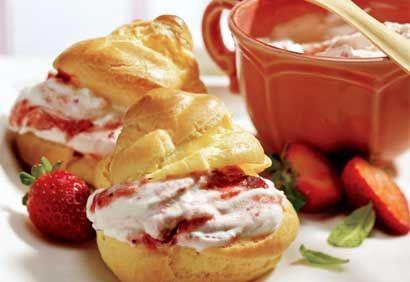 Profiteroles aux fraises