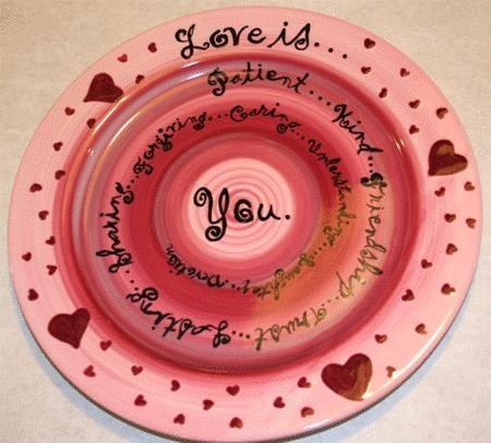 great for valentines, plate: Valentine'S Day, Pottery Ideas, Plates Diy Valentines, Sassy Ideas, Valentine'S S, Love Is, Red Heart, Valentine'S Ceramics, Valentine'S Ideas