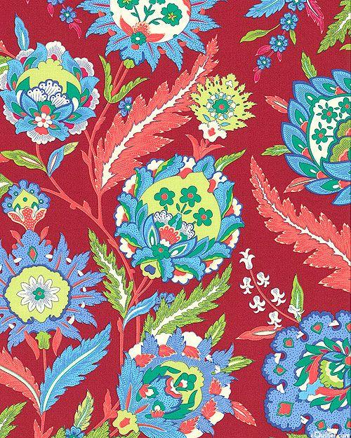 Iznik - Mevlana Blossoms - Cranberry Red