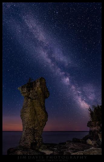 Nighttime_Flower Potsland_Bruce Peninsula_Under the Milky Way (facing west)_Photo by Jim Davis