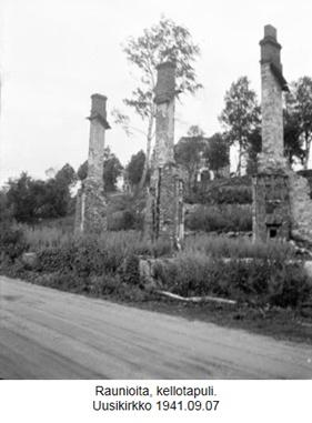 Uudenkirkon raunioita 1941.   Kuva on SA-kuvan arkistosta. Lisää SA-kuvia löydät  www.sa-kuva.fi