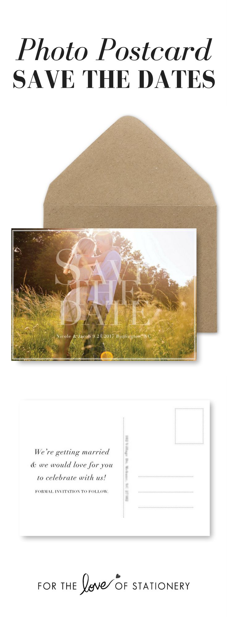 Using your engagement photos as Save the Date Postcards   Cutest idea for a DIY bride