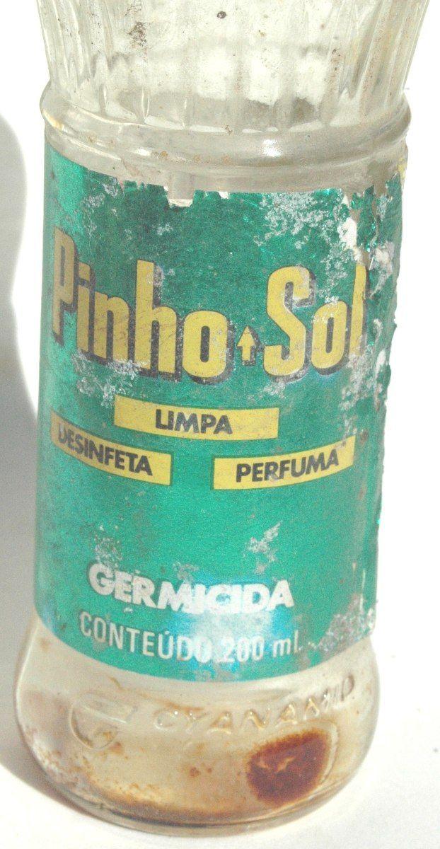 embalagem antiga do desinfetante pinho sol