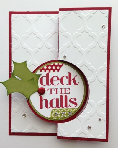 I like how the circle is flipped to the bottom of the card. Christmas Messages…