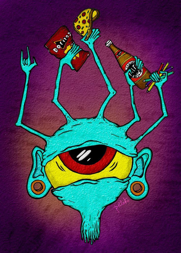 Ojo, Ilustración digital Belen caracoles pataki