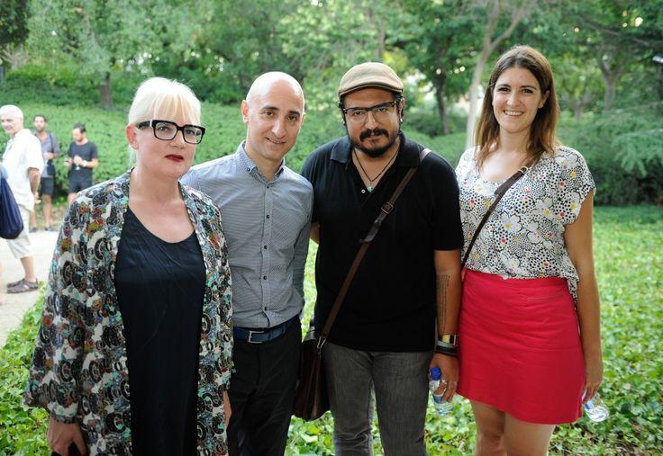 Hilde Teerlink, César Castillo, Eduardo Ruiz y María