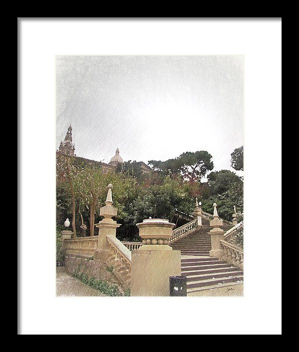 Barcelona Framed Print featuring the painting Barcelona, Magic by Joaquin Abella