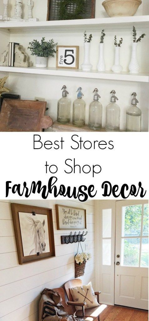 The best stores to shop for farmhouse decor to create the fixer upper look. Includes both online and in stores.