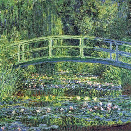 Water Lily Pond, 1899 (blue) Art Print by Claude Monet kingandmcgaw.com #landscape #Monet #Artprint #Artposter #Art #Poster #Print