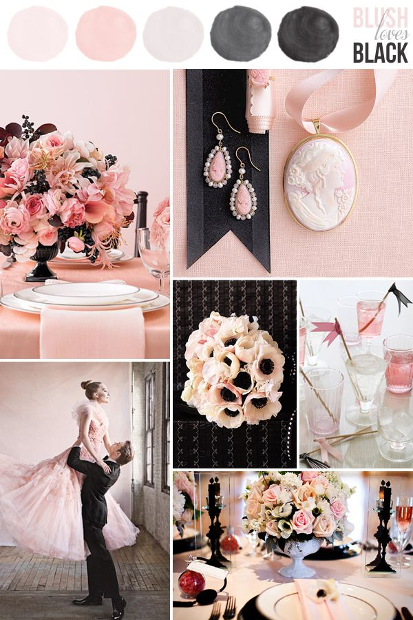Soft Pink Wedding Colors With Black Nix The Keep