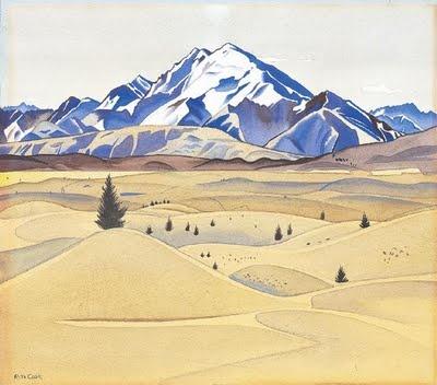 Mount Maud by Rita Angus (1938)