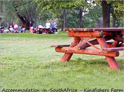 Picnic outside at Kingfishers Farm. http://www.accommodation-in-southafrica.co.za/Gauteng/Magaliesburg/Kingfishers.aspx