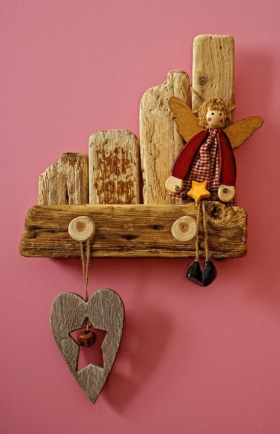 Children hanger towel hanger wooden hooks childrens by MarzaShop, $25.00