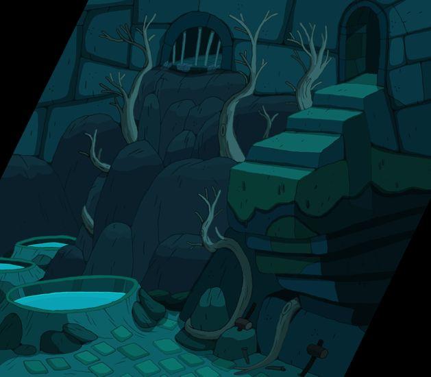 Ghostshrimp bg art for Adventure time