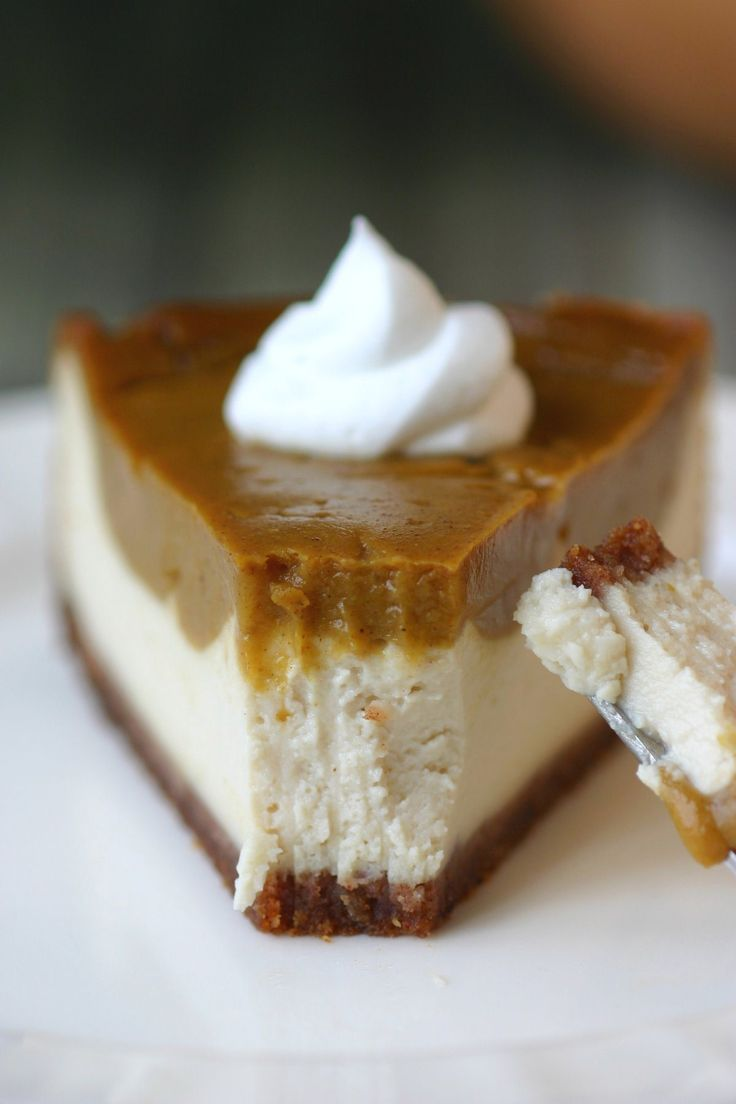 This recipe for Vegan Pumpkin Pie Cheesecake combines two of your favorite desserts to create one smooth, spiced, and rich sight to behold.