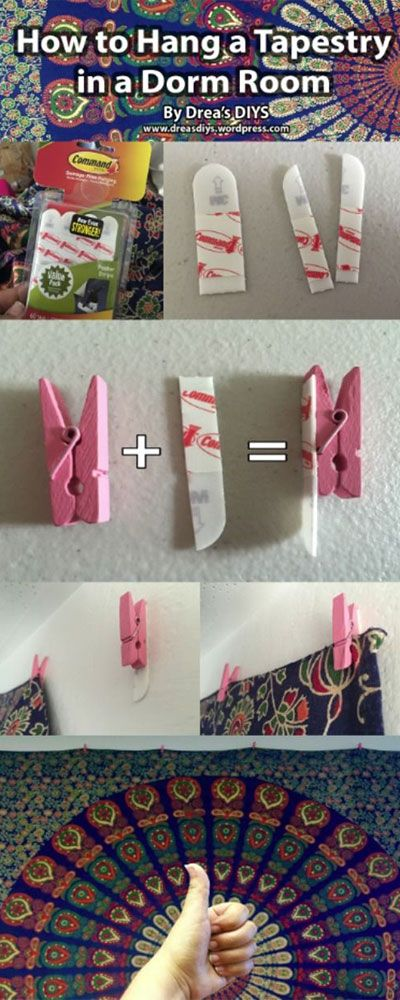 11 DIY Decorating Hacks That'll Make Your Dorm Room #Goals to the Extreme