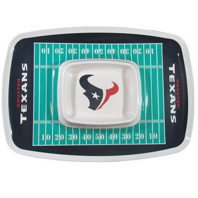 The Houston Texans Chip and Dip Tray is fantastic for serving up snacks while tailgating