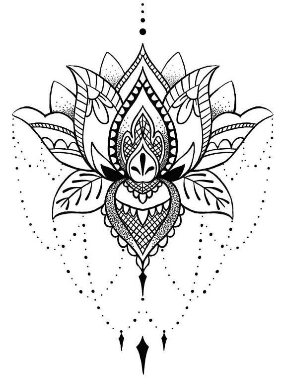 Wunderschönes Lotus Tattoo für Feste, Feste, Events und andere