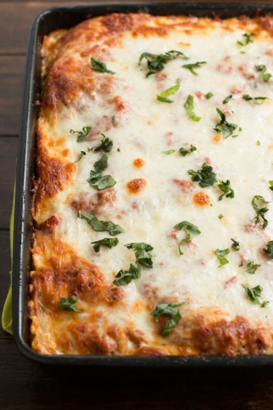 This easy homemade lasagna is perfect for all year round and easy enough that anyone can make it.
