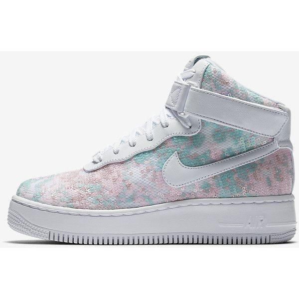 Nike Air Force 1 Upstep High LX Women's Shoe. Nike.com ($200) ❤ liked on Polyvore featuring shoes, nike footwear, nike and nike shoes