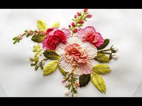 ВЫШИВКА  ЦВЕТОЧНЫЕ ШВЫ \   EMBROIDERY   Flower stitch - YouTube