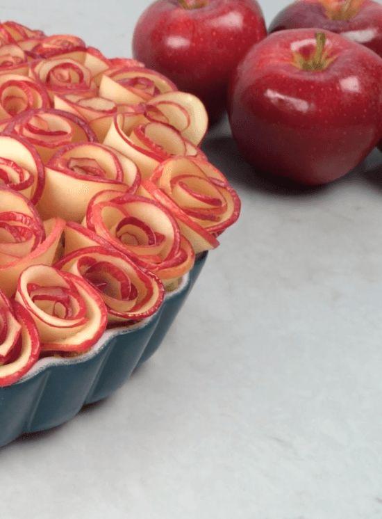 Rose Apple Custard Pie Recipe - HowToCookThat : Cakes, Dessert & Chocolate