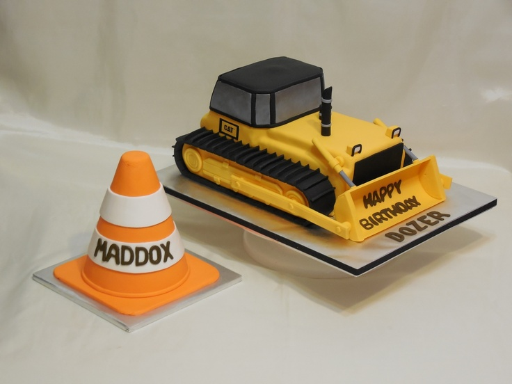 how to build a bulldozer cake
