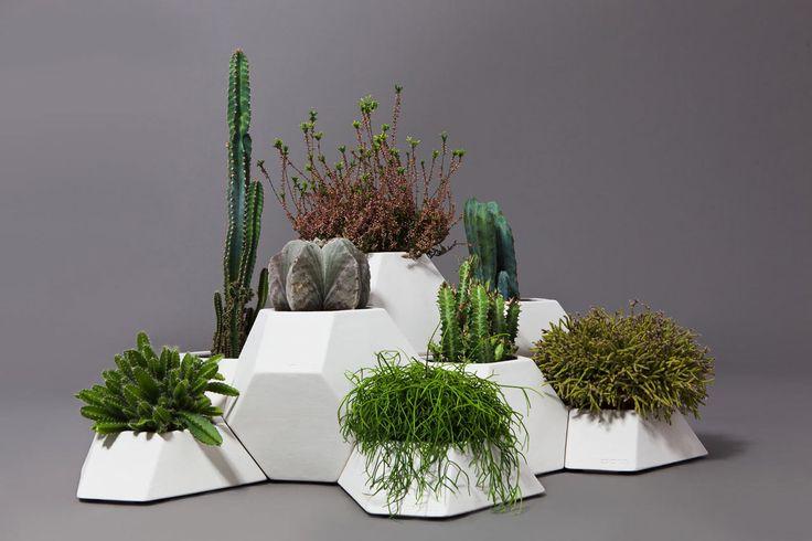 Ma-ce-ta Modular Faceted Garden Pots