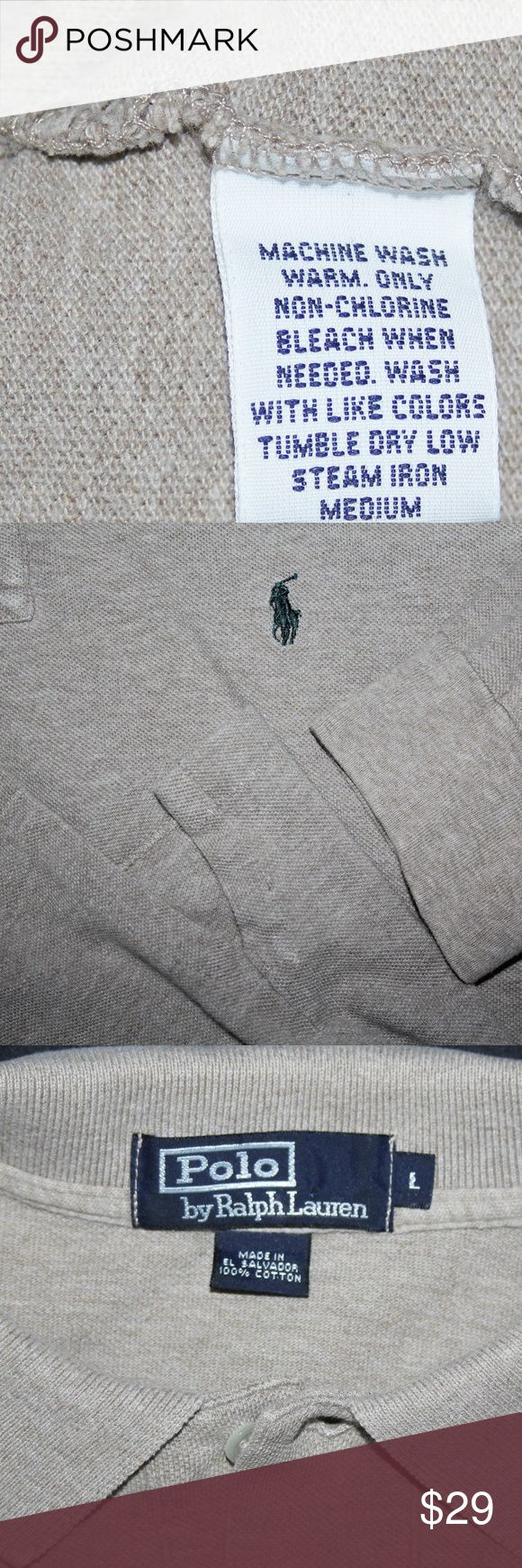 Ralph Lauren Polo Long Sleeve Polo Shirt Large Very, Very Nice condition. Nice rich color. Check out the pictures No rips tears or stains from a smoke free home Split hem bottom, banded Sleeves, classic fit 2 Button collar with the Iconic Navy Pony Polo by Ralph Lauren Shirts Polos