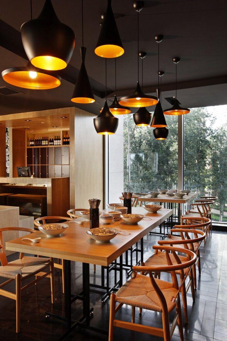 Modern restaurant table setting - Taiwan Noodle House By Golucci International Design