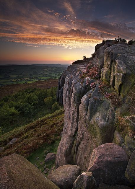 Sunset from the Roaches, Peak District, England | by Pete Hyde, via Flickr