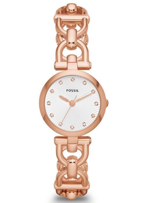 Fossil ES3350 kol saati bayanların en favori ürünlerinin başında gelmektedir. Bu saati en cazip fiyatlar karşılığında sitemiz üzerinden satın alabilirsiniz.  http://www.saat10.com/model/8019/fossil-es3350--bayan-kol-saati.aspx