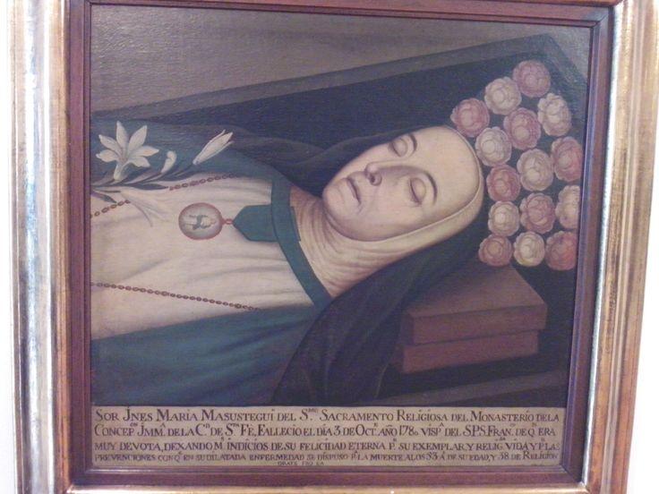 victorino gracia romero (atribuido) bogota 1791-1870 ines de masustegui del santisimo sacramento 1809 oleo sobre tela