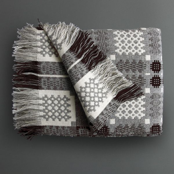 Love these Welsh tapestry blankets, amazing almost pixelated, geometrics. Hard to believe this is such an old traditional design.