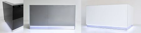 Black, grey or white? Linea reception desk.