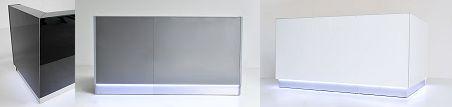 Black, grey or white? Linea reception desk.