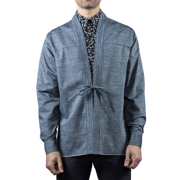 Kimono Shirt - Naked & Famous Denim | Chambray Selvedge Noragi
