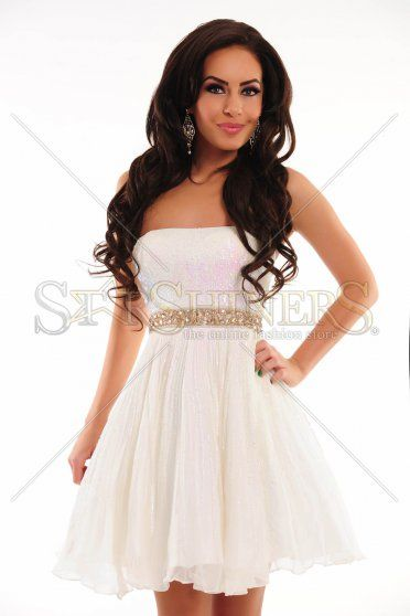 Sherri Hill 8520 White Dress