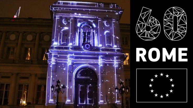 Quai d'Orsay - Illumination pour le 60ème anniversaire des Traités de Rome