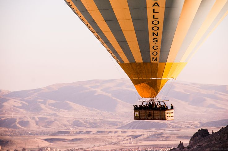 Hot air balloon ride over Cappadocia, Turkey | OFFTOWANDER.COM