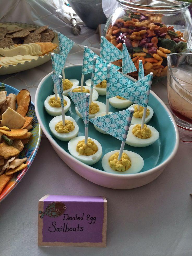 Deviled Egg Sailboats - Underwater Themed Baby Shower