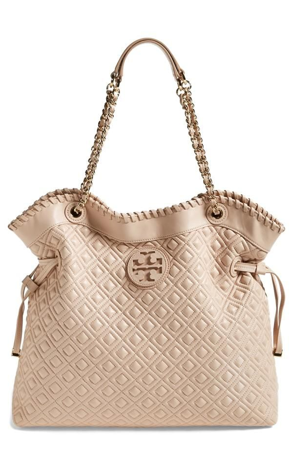 This beautiful 'Marion' quilted Tory Burch tote is on the spring wish list :)