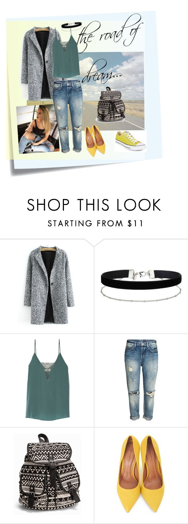"""""""dreamroad"""" by steinbachermaryna ❤ liked on Polyvore featuring Post-It, Miss Selfridge, Bailey 44, NLY Accessories, Moda In Pelle, Converse and dreamroad"""