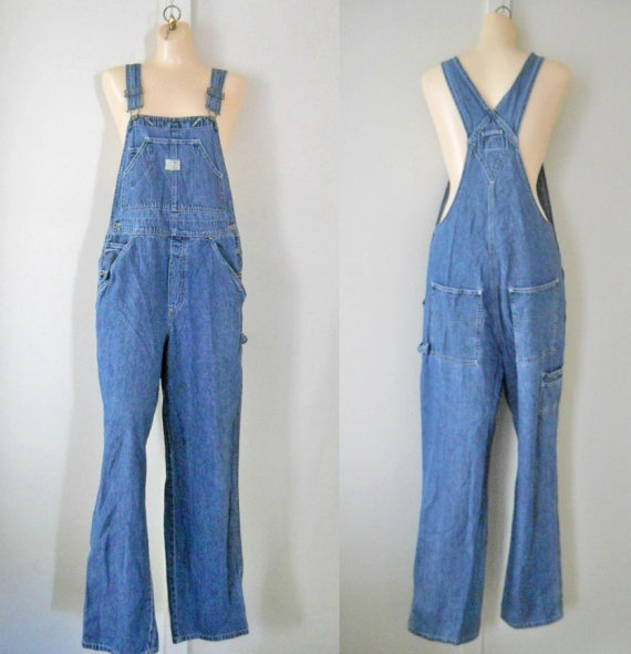 Women Overalls Denim Overalls Women Dungarees by TheVilleVintage, $44.99
